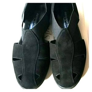 EASY SPIRIT*BLACK SUEDE FLAT